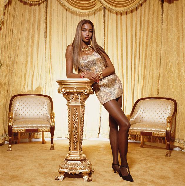 Первая чернокожая модель Наоми Кэмпбелл
